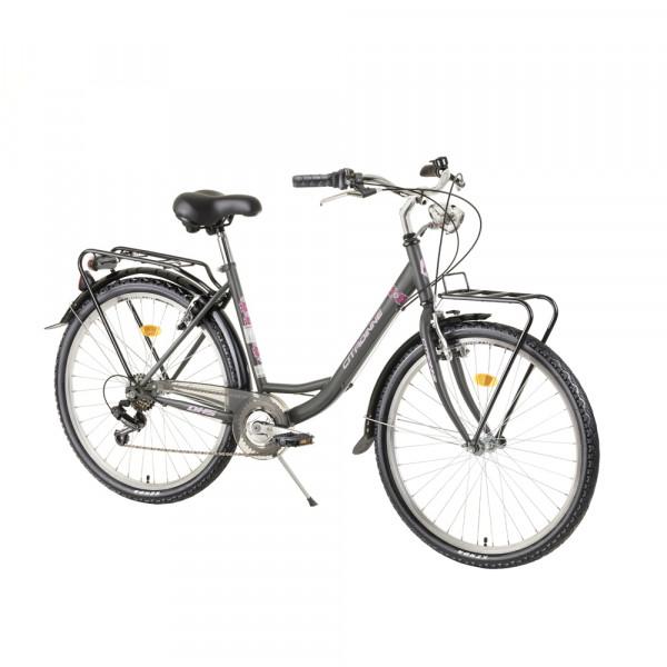 """Ποδήλατο City DHS 26"""" 2020DHS2634, Grey-Blue"""