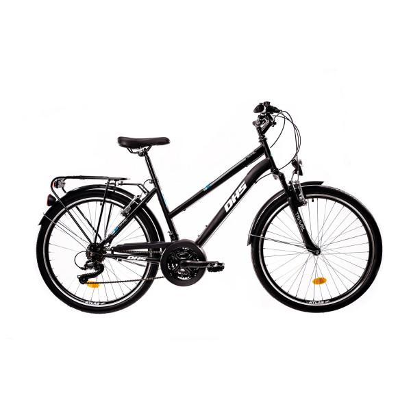 """Ποδήλατο Trekking 26"""" DHS 2654 , Μαύρο/Μπλέ"""